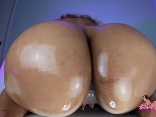 Perfect Latina Ass Covered In Oil: BBC Dirty Talk - Selena Ryan