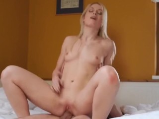 hot blonde sweet cat enjoyed a big cock in her pussy
