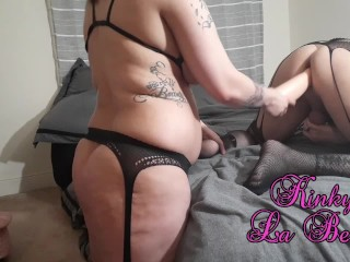 Pegging and Gaping His Sissy Ass With My Fister Part 2