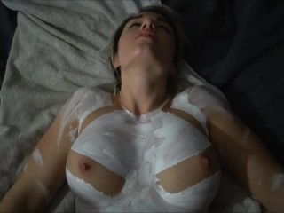 Body Paint and Tight Pussy Makes Him Explode On My Face