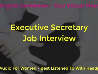 Daddy Dom Boss and Secretary Job Interview - Erotic Audio for Women - Against the Wall