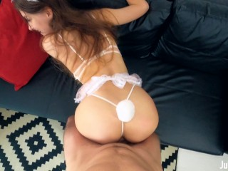 Stunning Babe Takes A Huge Load In Her Teen Pussy - 4K POV
