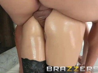 BRAZZERS - Holly Michaels gets oiled up and ass fucked