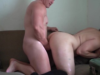 Big Booty Pawg Fucked While He Has Prostate Plug in His Ass - Assjob Cum!