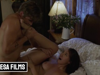 Bellesa - Bella Rolland Sneaks Nathan Bronson Into Her Room & Their Hands Are All Over Each Other