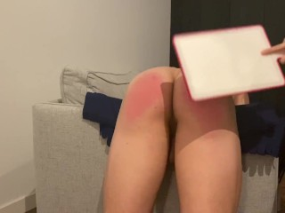 Spanking my Disobedient Boyfriend for Masturbating without Permission