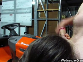 throwback submissive blowjob and sex