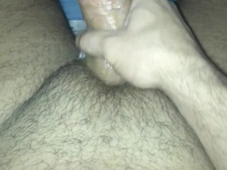 Jacking off while my ex gf watches