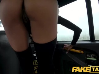 Fake Taxi Big tits petite ebony babe alyssa divine squirts over dirty driver