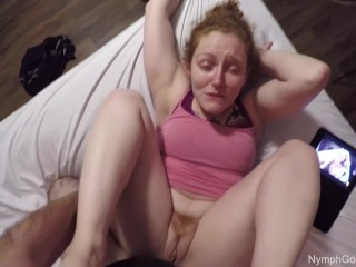 Redhead fucked POV slow and hard through multiple orgasms