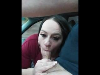 Alabama milf caught stranger jerking off in a van gave him road head for a ride to the glory hole