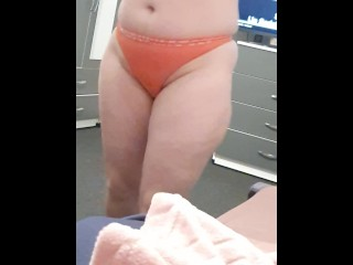 Step mom in thongs seduces and fuck step son near dad bedroom