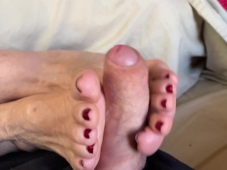 Step Aunt Ann Wakes Me Up With Mature Moaning FootJob JOI