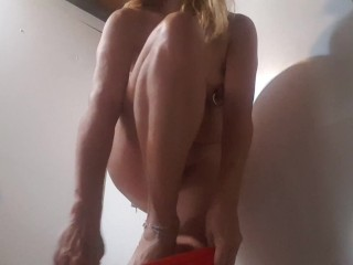 changing different hot pants & flashing my multiple pierced pussy & my xxl nipple piercings