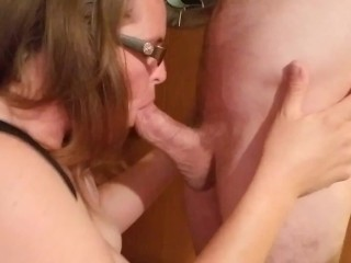 Blowjob from the wife's sister. With cum shot