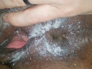 Super Creamy Pussy & Winking Asshole After Hardcore Sex