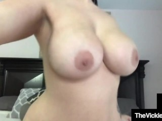 Thick Curvy Vickie Jay Blows Her Torso Cock Chad!