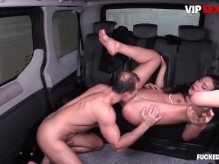 Fucked In Traffic - Nataly Gold Hot Russian Brunette Sucks A Big Dick Hard In The Car