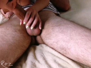 Lovely blowjob and 69 pose from my beloved stepsister.