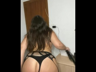 curvy of big natural tits dancing in sexy lingerie