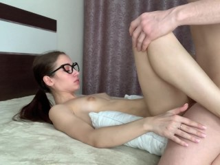 After blowjob he fucked my pussy and cum on my body
