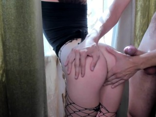 Sexy nymph gets a cock in her tight pussy. Fast fuck HD 1080