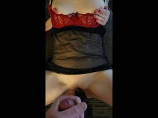 My Hotwife Cuckolds Me While She Degrades My Tiny Cock and Fucks a Big Black Dildo Humiliation