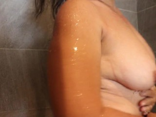 A hot shower for my subscribers alone at home
