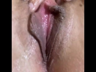 Pussy filled with jizz