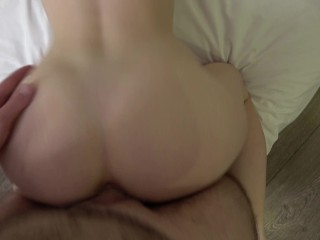 This beautiful girl with big tits and good ass got a huge cock in her tight pussy 4K 60FPS