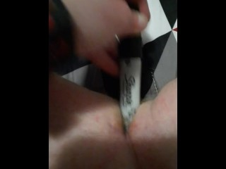 Masturbation in my bedroom with a big bic marker while home alone watching that 70s show on DVD