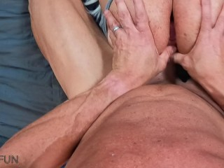 Big Tit Milf filmed with Head Cam while fucking (silent)
