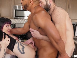 Charlotte Sartre Catches Johnny & Dillon Diaz Fucking and Joins in for a MMF Bi Threesome