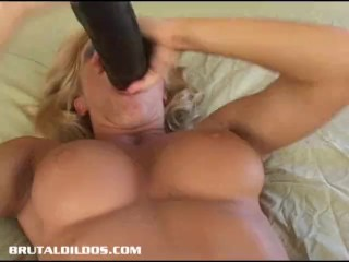 dildo gaping a blond pussy