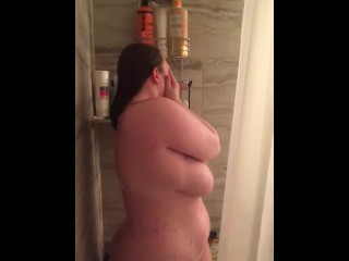Shower with me, bbw cums in minutes