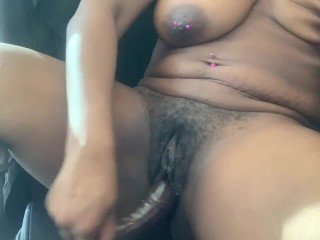 Completely Naked at the Front Desk- RISKY PUBLIC MASTURBATION