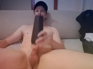 Hard AF Straight Aussie Guy Moans Fucking His Fleshlight