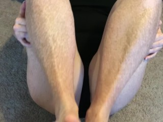 Freckled redhead does first time footfuck