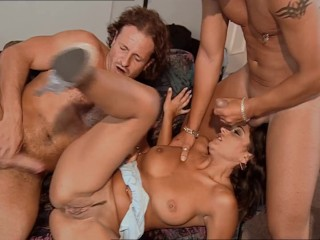 Cuckold Husband Gives His Wife 3 Big Cocks, She Gets Double Penetrated Then Filled With Cum