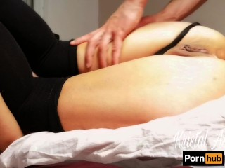 Romantic anal fuck of a sexy brunette and internal cumshot