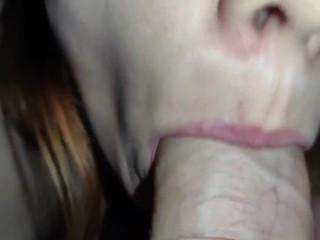 ASMR blowjob assembly oral pleasures close-up. Cum in my mouth!