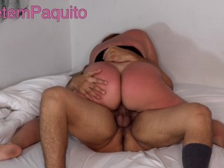 Sexy Latina with Tan Lines on that BIG ASS gets FUCKED after the Beach