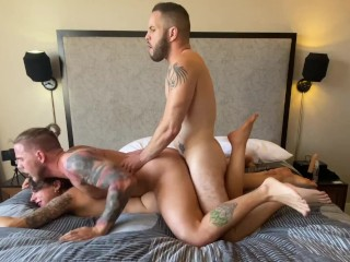 Wolf Hudson in Bisexual MMF Threesome with April Olsen & Steve Rickz