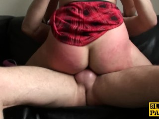 Facefucked sub Kloe White squirts everywhere