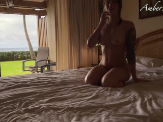 I love cum inside me - Passionate sex with gorgeous babe AmberWinters