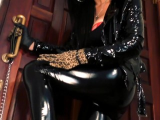 Doormat in Chastity Preview - Boot Domination - Young Goddess Kim
