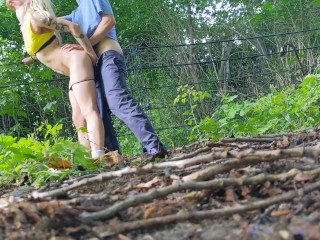 Outdoor sex in the park, we just cant stop fucking