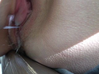Ask a stranger to lick my pussy in public park. Wet orgasm