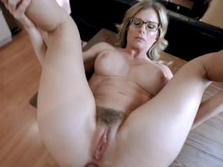 Caught My Busty Step Mom Masturbating and Now she Wants Anal Sex - Cory Chase