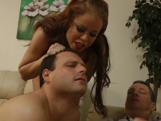 Cuckold Hubby Loser get trained for BI!